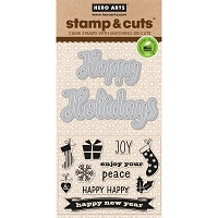 Hero Arts - Stamp & Cut - Fancy Cut Holiday