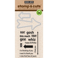 Hero Arts - Stamp & Cut - Arrow Messages