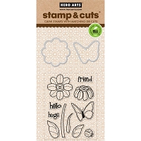 Hero Arts - Stamp & Cut - Butterfly & Flower