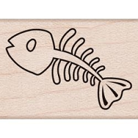 Hero Arts - Wood Mounted Rubber Stamp - Mini Fishbone