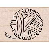 Hero Arts - Wood Mounted Rubber Stamp - Mini Yarn