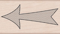 Hero Arts - Wood Mounted Rubber Stamp - Striped Arrow