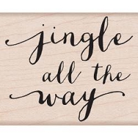 Hero Arts - Wood Mounted Rubber Stamp - Jingle Script