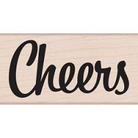 Hero Arts - Wood Mounted Rubber Stamp - Bold Cheers