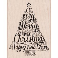 Hero Arts - Wood Mounted Rubber Stamp - Merry Christmas Tree