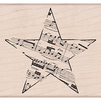 Hero Arts - Wood Mounted Rubber Stamp - Music Star