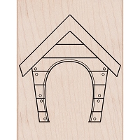 Hero Arts - Wood Mounted Rubber Stamp - Dog House