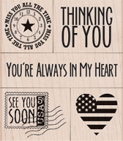 Hero Arts - Wood Mounted Rubber Stamp - You're Always In My Heart