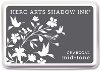 Hero Arts - Shadow Ink Mid-Tone -  Dye Pad - Charcoal