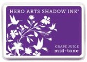 Hero Arts - Shadow Ink - Mid Tone - Dye Pad - Grape Juice