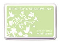 Hero Arts - Shadow Ink - Mid-Tone -  Dye Pad - Green Hills