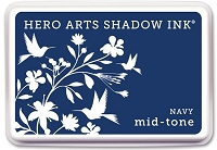 Hero Arts - Shadow Ink Mid-Tone -  Dye Pad - Navy