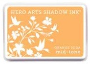Hero Arts - Shadow Ink - Mid Tone - Dye Pad - Orange Soda