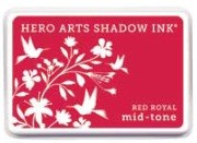Hero Arts - Shadow Ink - Mid Tone - Dye Pad - Red Royal