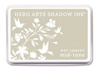 Hero Arts - Shadow Ink - Mid-Tone -  Dye Pad - Wet Cement