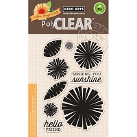 Hero Arts - Clear Stamp - Color Layering Graphic Flowers