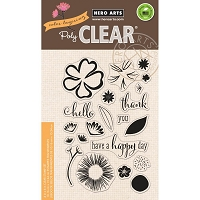 Hero Arts - Clear Stamp - Color Layering Happy Day Flowers