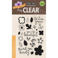Hero Arts - Clear Stamp - Color Layering Let Love Grow