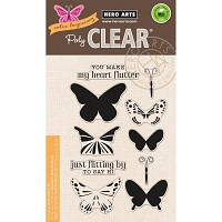 Hero Arts - Clear Stamp - Color Layering Butterflies