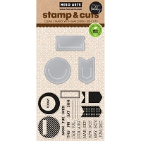 Hero Arts - Stamp & Cut - Kelly's Planner Clips Stamp&Cut