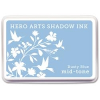 Hero Arts - Shadow Ink - Mid-Tone - Dye Pad - Dusty Blue Mid-Tone Shadow Ink Pad