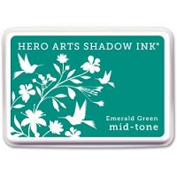Hero Arts - Shadow Ink - Mid-Tone - Dye Pad - Emerld Green Mid-Tone Shadow Ink Pad
