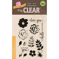 Hero Arts - Clear Stamp - Color Layering For You Flowers