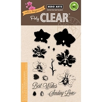 Hero Arts - Clear Stamp - Color Layering Large Orchid