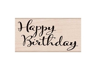 Hero Arts - Wood Mounted Rubber Stamp - Happy Birthday Script