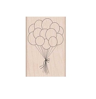 Hero Arts - Wood Mounted Rubber Stamp - Birthday Balloons