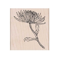 Hero Arts - Wood Mounted Rubber Stamp - Mum Stem
