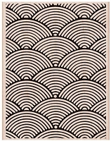 Hero Arts - Wood Mounted Rubber Stamp - Wave Pattern Background