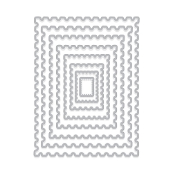 Hero Arts - Fancy Die - Nesting Postage Stamps Infinity Dies
