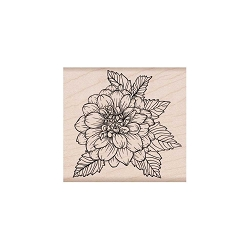 Hero Arts - Wood Mounted Rubber Stamp - Artistic Dahlia