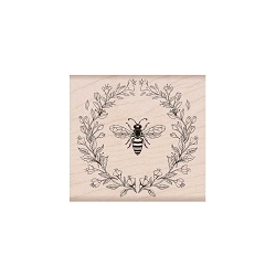 Hero Arts - Wood Mounted Rubber Stamp - Antique Bee and Flowers