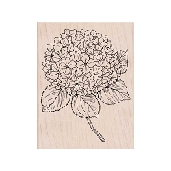 Hero Arts - Wood Mounted Rubber Stamp - Large Hydrangea