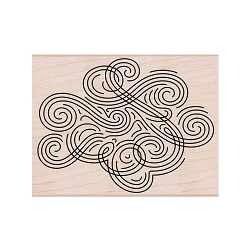 Hero Arts - Wood Mounted Rubber Stamp - Large Swirl Background