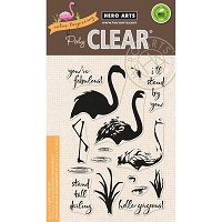 Hero Arts - Clear Stamp - Color Layering Flamingo