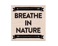 Hero Arts - Wood Mounted Rubber Stamp - Breathe In Nature