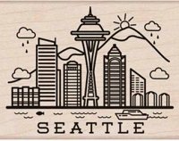 Hero Arts - Wood Mounted Rubber Stamp - Destination Seattle
