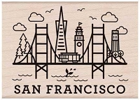 Hero Arts - Wood Mounted Rubber Stamp - Destination San Francisco