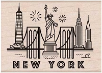 Hero Arts - Wood Mounted Rubber Stamp - Destination New York