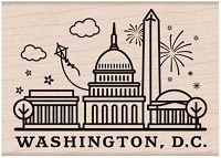 Hero Arts - Wood Mounted Rubber Stamp - Destination Washington DC