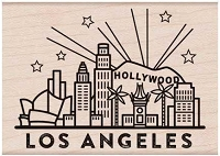 Hero Arts - Wood Mounted Rubber Stamp - Destination Los Angeles