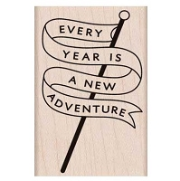 Hero Arts - Wood Mounted Rubber Stamp - Adventure Banner