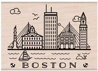 Hero Arts - Wood Mounted Rubber Stamp - Destination Boston
