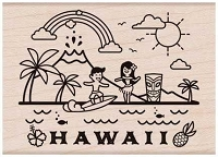 Hero Arts - Wood Mounted Rubber Stamp - Destination Hawaii