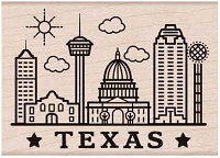 Hero Arts - Wood Mounted Rubber Stamp - Destination Texas