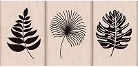 Hero Arts - Wood Mounted Rubber Stamp - Tropical Leaves set