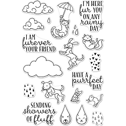 Hero Arts - Clear Stamp - Raining Cats & Dogs